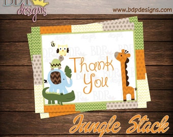 """Jungle Stack Thank you Card (4.25""""x5.5"""")"""