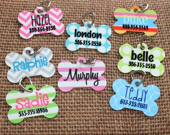 Pet ID Tag - Personalized Dog Tag - Bone Dog Tag - Custom Pet Tag - Dog Tag - Puppy ID Tag - Bone Dog tag - Monogram Dog Tag - Pet ID Tag