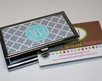 Business Card Case Monogrammed Gift Personalized Gift Co-Worker Gift