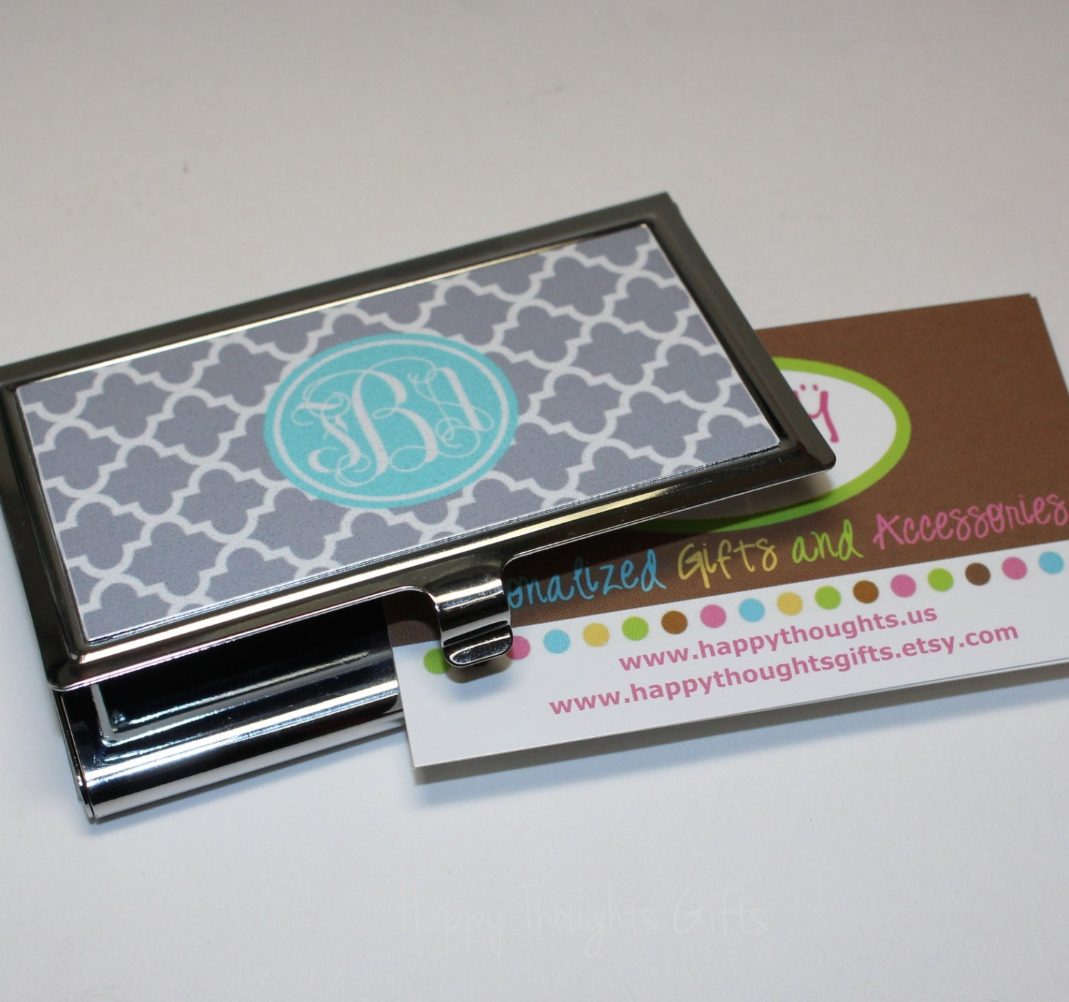 Business Card Case Monogrammed Gift Personalized Gift