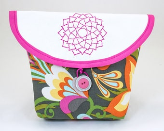 Bicycle Handlebar Bag with Lotus Flower