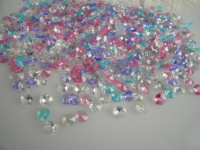 Confetti table decoration scatter fake diamonds micro small for Decoration jewels mhw