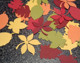 50 Various Fall Leaves Die Cuts 3 inches