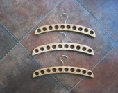 Set of three wooden hangers for scarves, ties, belts, jewelry trade shows, fairs,shops