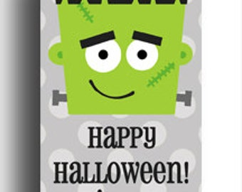Personalized Halloween Tag - Frankenstein Party Treat Tags, Favor Tags, or Labels Printable