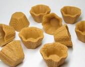 Miniature waffle bowl Ice cream sundae cups kawaii sweets decoden your choice 1pc 3pc or 12 pcs DIY deco charm base 25mm x 38mm