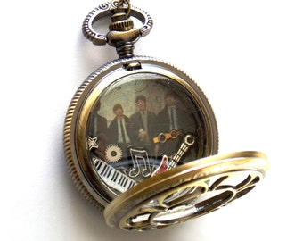Beatles Pocket Watch Necklace