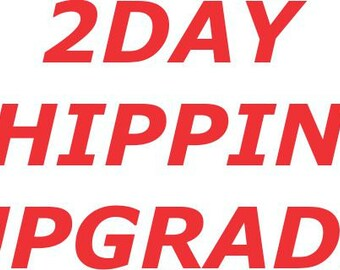 2Day Rush Upgraded Shipping - Get it in time!
