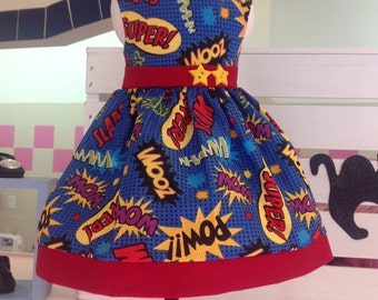 WOW...POW...SUPER Dress for 18 inch Dolls