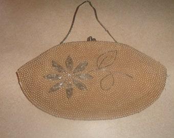 vintage beaded purse handbag pearls