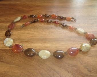 vintage necklace glass stones