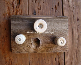 Barnwood wall hook rack