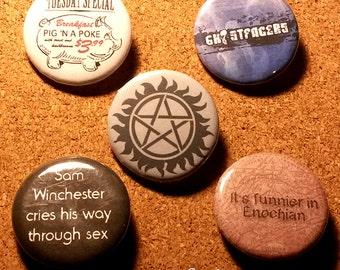 Super Duper Supernatural Pin Pack