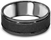 Hammered Black Gold Mens Wedding Band Size (7-12) 8MM Mans Ring Bridal Anniversary Black Gold
