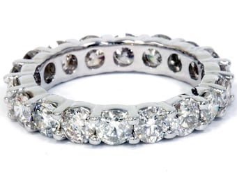 4.00CT Diamond Eternity Ring 14 KT White Gold