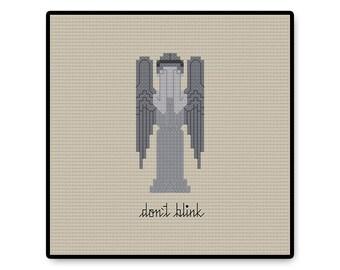 Don't Blink - Doctor Who - Cross Stitch PDF Pattern