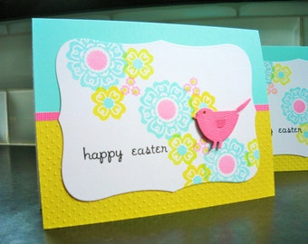 Handmade Easter Card, Little Bird Card, Happy Easter Greeting Card