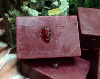 Homemade Dragons Blood Scented 2 Bar Soap Vegan Luxury Hedera X