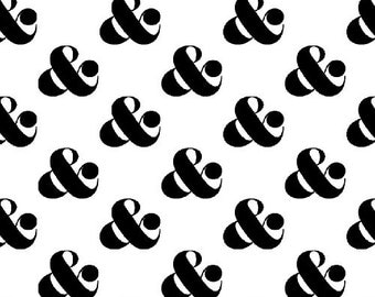 Windham Fabrics - Ampersand Set in White - Ampersand Design Studio - By The Yard