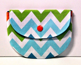 Preppy Chevron Pacifier Pouch, Pacifier Pouch, Pacifier Holder, Coin Purse, Small Wallet, Card Holder, Small Wallet, Binky Pouch, Pacifier