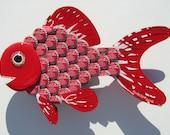 Goldfish Art Metal Bottle Cap Wall Art Coke BottleCap Fish