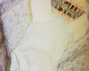 Newborn Girl beaded Bodysuit Take me home outfit
