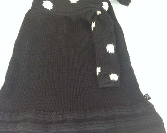 Knitted Polka Dot Skirt