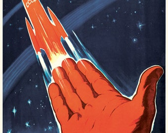 Space will be ours. A Soviet citizen, be proud  / The way to distant stars is discovered. Soviet poster, soviet propaganda, soviet, poster