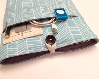 MacBook Air 11 Case - Zippered BONUS Front Pocket - Herringbone