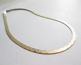 Vintage Danecraft Gold tone Sterling Silver Necklace