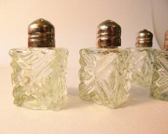 Mini crystal salt & pepper shakers