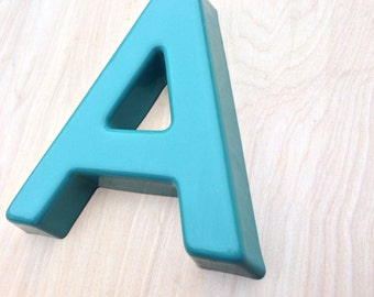 A - Reclaimed vintage letter - Aloe