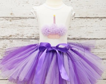 purple tutu, purple birthday outfit, purple tutu set, lavender tutu set, birthday set, baby tutu skirt, girls tutu, tutus, sofia the first