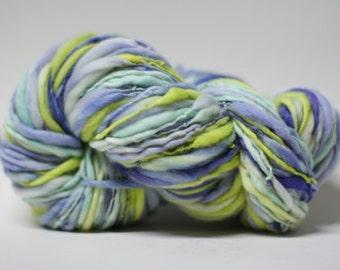 Handspun Merino Wool Thick Thin Superfine Merino SFM Wool tts (tm) Hand Dyed Yarn SFM 11b Extra soft Premium quality