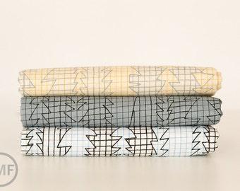 Fat Quarter Bundle Doe Lightning, 3 Pieces, Carolyn Friedlander, Robert Kaufman Fabrics, 100% Cotton Fabric, AFR-15027