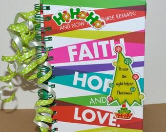 Spiral Journal - 1 Corinthians 13 - Religious Journal - Christmas Journal