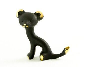 "Walter Bosse Puma - Brass ""Black Gold"" Black Cat Figurine — ""Puma"""