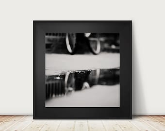 bicycle photography reflection photograph black and white photograph hipster style cambridge photograph bicycle reflection print