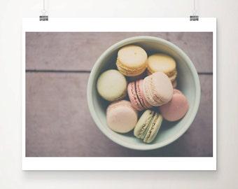 macaron photograph macaron print french decor paris decor paris print food photography kitchen wall art food print
