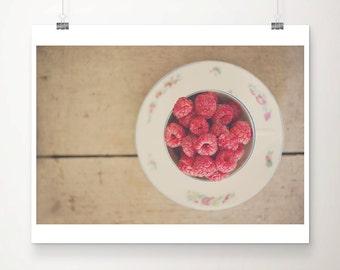 raspberry photograph food photography kitchen wall art raspberry print fuchsia pink decor still life photograph fruit photograph