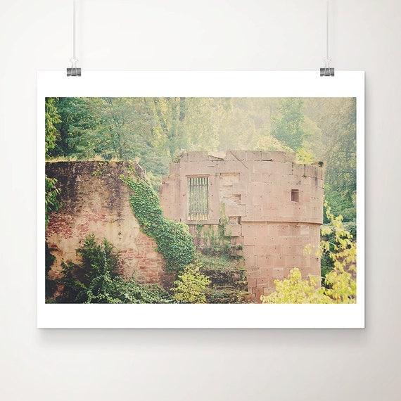 castle photograph, fairytale, heidelberg castle, Germany, ruin, green, magic, architecture photography, color photography