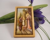 Young Jesus with Mary and Joseph small picture wall hanging