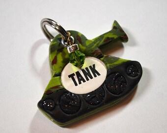 Army Tank Dog Tag / Pet Tag