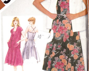 1980s Womens Sewing Pattern Halter Sundress & Unlined Jacket Size 14 Bust 36 Simplicity 9949