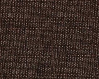 Heavy Linen Look - Multi-purpose Upholstery Fabric. Soft Texture. Decorative Look of Linen- Duty Free to Canada - Color: Chestnut - per yard