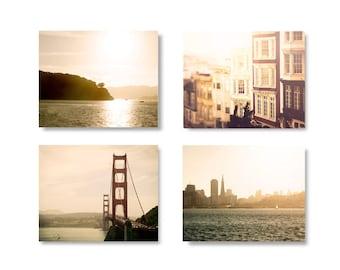 San Francisco photography set, San Francisco skyline, Home Decor Photo Set, wall art, travel print, San Francisco Art
