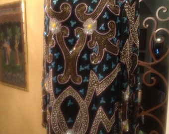 Gorgeous exclusive design beaded and sequin dress