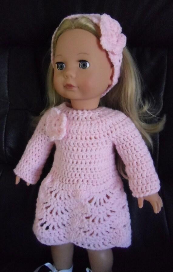 Crochet Dress Up Doll Pattern : PDF Crochet pattern for dress set for 18 inch doll American