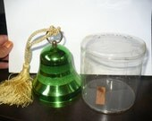 Vintage Reuge Swiss made music box bell shaped ornament