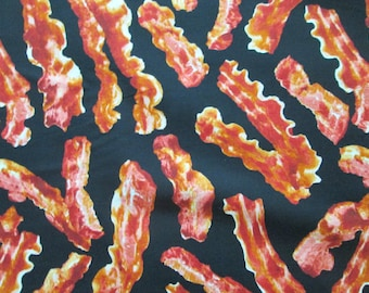 Bacon Strips Ham Realistic Cotton Fabric Fat Quarter or Custom Listing